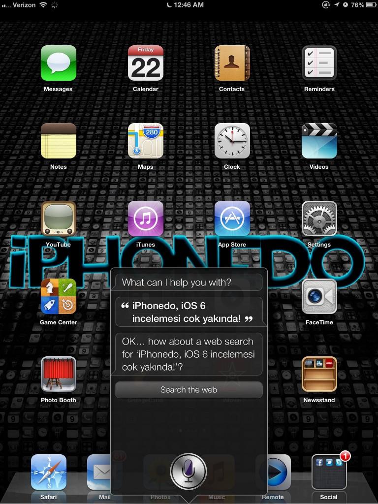 iOS 6 Beta 1