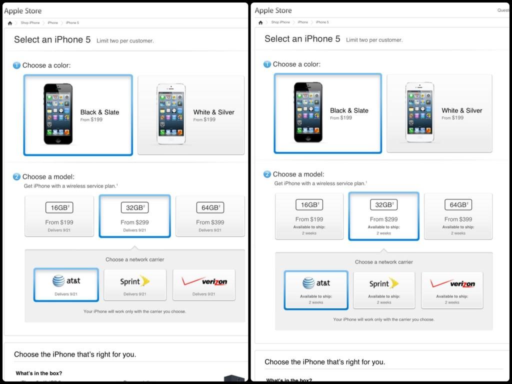 iPhone 5 teslim süresi