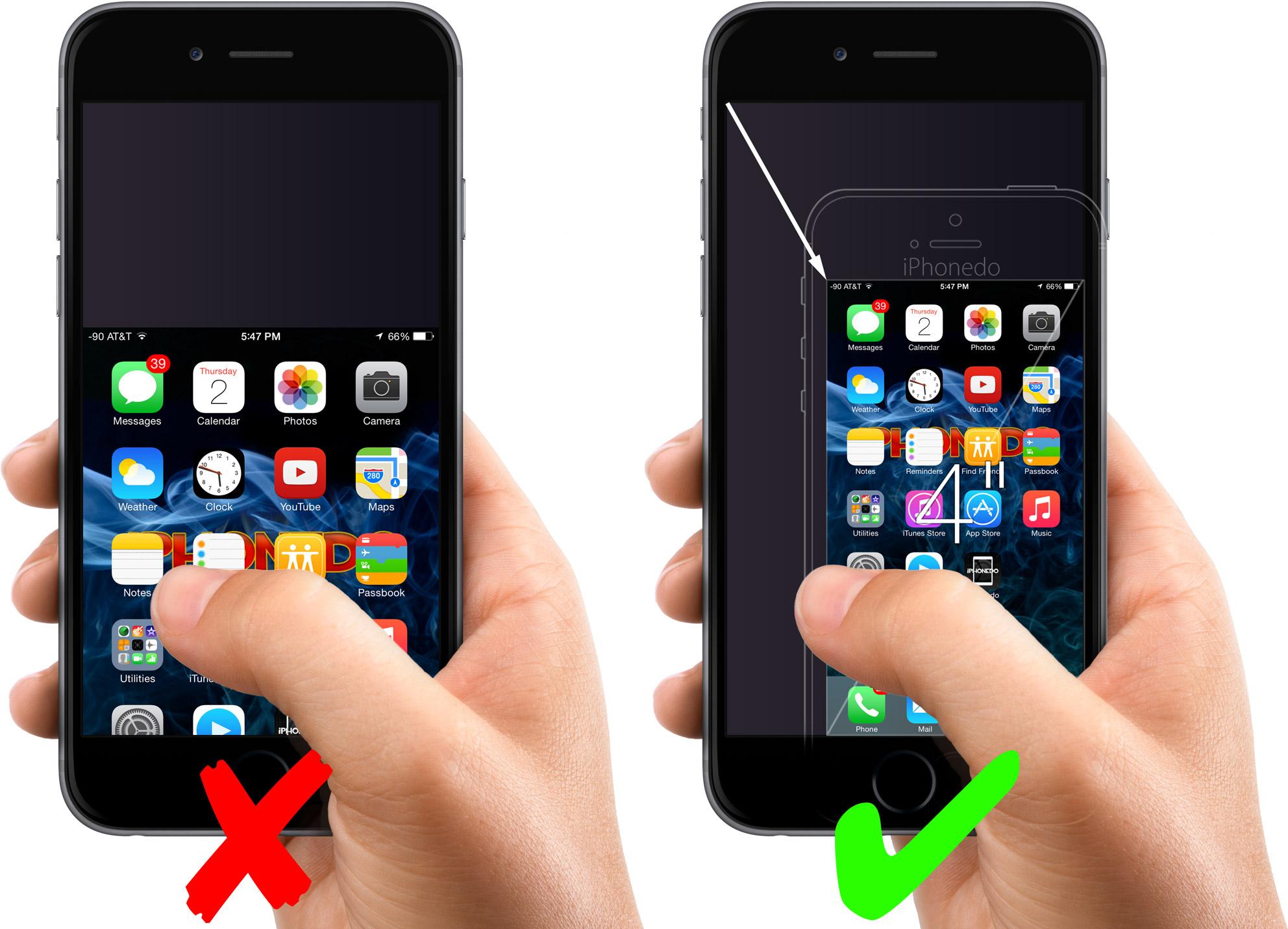 Iphone su damlas duvar ka d - True Reachablility