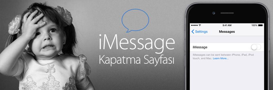 iMessageKapatmaSayfasi